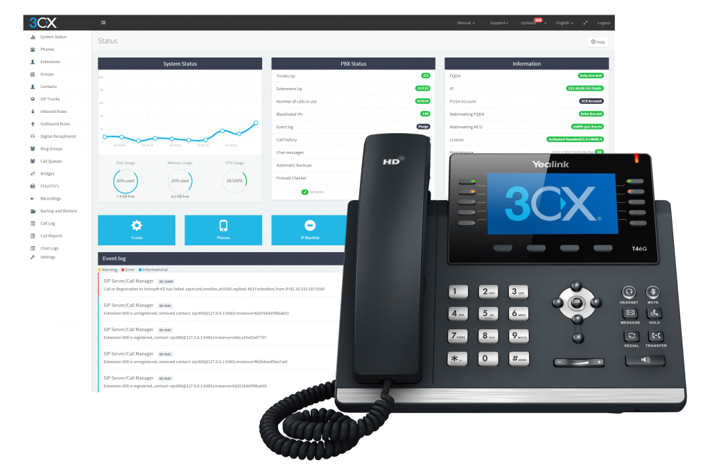 3CX Management Console